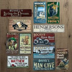 rustic metal personalized sign bling out his man cave with one of these great personalized