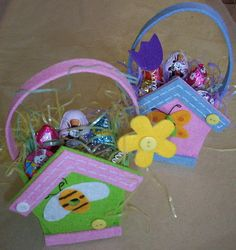 Cute Felt Easter Baskets by Sherry's on Main, via Flickr
