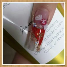 Christmas Nail design with 3D candy by Rosa Haydee