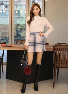 Korean Women`s Fashion Shopping Mall, Styleonme. Korea Fashion, Pop Fashion, Asian Fashion, Fashion Beauty, Fashion Outfits, Fashion Design, Skirt Outfits, Casual Outfits, Cute Outfits