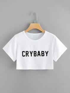 Camiseta crop top corta crybaby blanca full - Camiseta crop top corta crybaby blanca full Source by - Cute Comfy Outfits, Cute Girl Outfits, Swag Outfits, Trendy Outfits, Cute Crop Tops, Crop Top Shirts, Crop Tee, Crop Tops For Kids, Teen Crop Tops