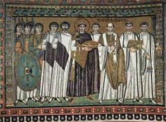 mosaico imperador justiniano e sua corte - Pesquisa Google