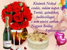Isten éltessen sokáig egészségben! Boldog születésnapot kívánok. Birthday Decorations, Table Decorations, Beautiful Red Roses, Good Morning Flowers, Winter Christmas, Happy Birthday, Floral, Desserts, Home Decor