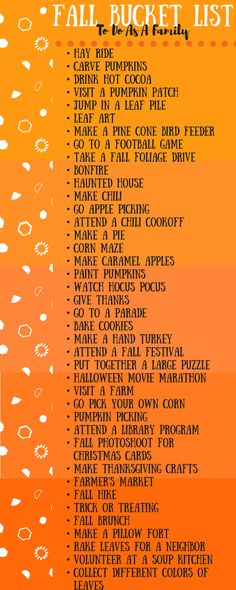 Fall is all about family, gathering, being thankful for loved ones. Here is a fall bucket list perfect to do as a family in the fall!
