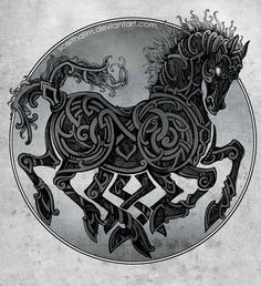 Sleipnir by SceithAilm. In Norse mythology, Sleipnir is an eight-legged horse…