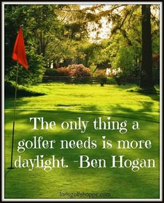 If only we could ask for more daylight! LOL #golf #golfer #lorisgolfshoppe #EssentiallyGolf