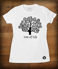 "Tshirt ""Tree of life""  TEE-SHIRT FEMME QUALITÉ : JERSEY 150 - 100% coton semi-peigné Bande de propreté au col Encolure jersey STYLE : FÉMININ - Cou... Tree Of Life Quotes, T Shirt, Sweatshirts, Mens Tops, Style, Fashion, Neckline, Band, Woman Clothing"