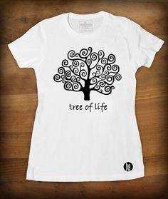 "Tshirt ""Tree of life""  TEE-SHIRT FEMME QUALITÉ : JERSEY 150 - 100% coton semi-peigné Bande de propreté au col Encolure jersey STYLE : FÉMININ - Cou... Tree Of Life Quotes, T Shirt, Etsy, Sweatshirts, Mens Tops, Style, Fashion, Neckline, Band"
