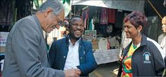 The Deputy Minister of Basic Education Mohamed Enver Surty along with ANC Regional Secretary Mzi Zuma and Copesville acting councillor Rachel Soobiah during the walk about in Debi Place market Education System, Secretary, Regional, Vows, Acting, Challenges, Marketing, Projects, Blue Prints