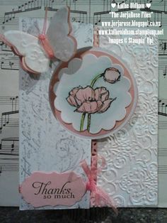 """By Kathe Oldham from """"The JorjaRose Files"""", featuring the Stampin' Up! Circle Card Thinlits Dies, and the stamp sets """"Yippee-Skippee!"""", """"Simply Sketched"""", and the """"Very Vintage"""" Jumbo Wheel."""