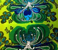 60s vintage Saini Salonen tapestry fabric. Boras by Inspiria