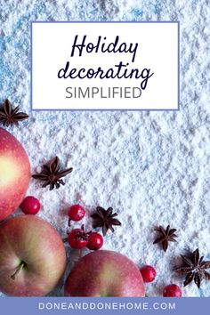 Don't miss these tips for easy holiday decor for busy people who want to get organized for the holidays.  Whether you're celebrating Christmas or Hanukkah, these simple holiday decorating tips will make holiday decorating as easy as 1, 2, 3.  #christmasdecor #holidaydecor #hanukkahdecor #holidaydecorations
