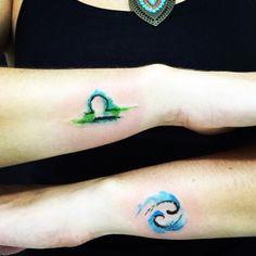 Libra Watercolor Tattoo                                                                                                                                                                                 More