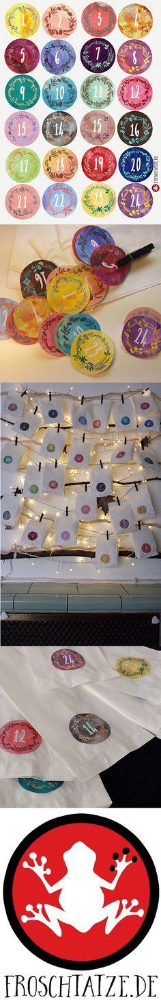 Kostenlose Adventskalenderzahlen zum Downloaden und Ausdrucken! ----------------------------------------------- Kleines Extra: der 5 € Gutscheincode HEYS9PF für Hörgeschichten und Sprachlern-CDs!