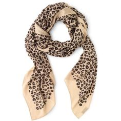 """Stella and Dot Bryant Park Scarf - Tan 70""""x38"""" scarf - lovely and lighter weight for summer. The fun cheetah print is a great accent for any outfit! Stella & Dot Accessories Scarves & Wraps"""