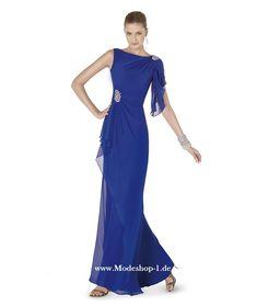 One Shoulder Abendkleid in Marineblau