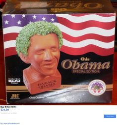 Barack Obama: Brand New Chia Pet President Barack Obama Happy Special Edition Planter Sealed BUY IT NOW ONLY: $34.99 #priceabateBarackObama OR #priceabate