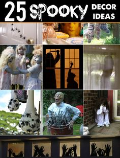 Spooky Halloween Decor Ideas for outside your house and decorating for parties! #halloween