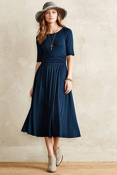 Jersey Midi Dress - anthropologie.com :: perfect for travel, dress up, dress down