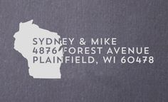 I must get this!! Have our last name then address of our new home.  https://www.etsy.com/listing/168564603/return-address-stamp-state-of-wisconsin
