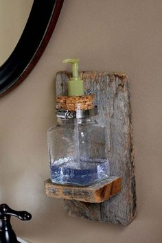 Craft Ideas for the Home | Rustic DIY Home Decor Ideas | DIY Vintage Soap Dispenser | DIY Projects and Crafts by DIY JOY at http://diyjoy.com/craft-ideas-diy-soap-dispensers
