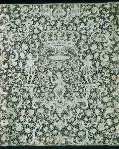 Detail: French (Paris). Lace Panel, about 1675-1700. Linen, 193 x 40.2 cm