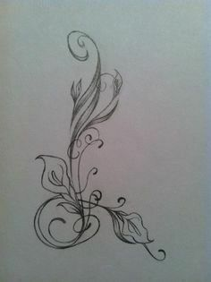 Seriously thinking about a Lily tattoo and this is in a shape of an L! Hair Tattoos, Love Tattoos, Beautiful Tattoos, Body Art Tattoos, New Tattoos, Tribal Tattoos, Tatoos, Tattoo Arm, Ankle Tattoo