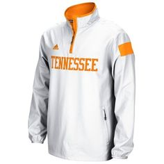 Tennessee Volunteers adidas 2014 Football Sideline Coaches 1/4 Zip Long Sleeve Woven Jacket - White