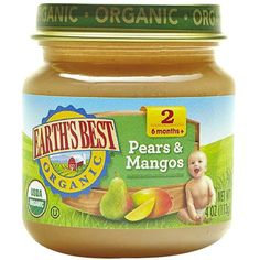 Earth's Best Baby Food Jar Pears Mangos 4oz (12 Pack) (98 SEK) ❤ liked on Polyvore featuring food and baby