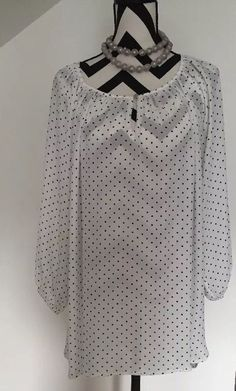 Vince Camuto Polka Dot Shirt, Career Tunic, 3/4 Sleeve, Size 2X  | eBay