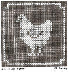 Sentimental Baby: Filet Crochet or Cross Stitch Animal Motifs Free