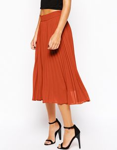 Image 4 ofTrue Decadence Petite Pleated Chiffon Midi Skirt