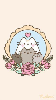 Cat Wallpaper, Kawaii Wallpaper, Wallpaper Iphone Cute, Chat Kawaii, Kawaii Cat, Kawaii Drawings, Easy Drawings, Pusheen Love, Images Kawaii