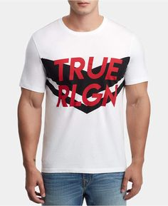 True Religion Men Chevron Logo Graphic T-Shirt
