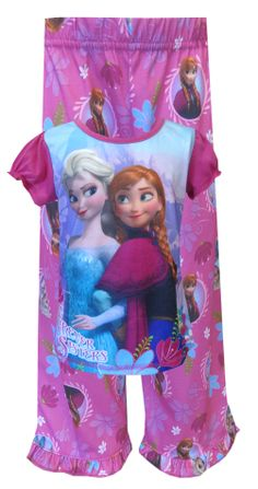 Disney Frozen Princesses Anna and Elsa Pajama Sure to please any Frozen fan, these flame resistant pajamas for girls feature Fr...