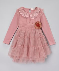 Dusty Pink Tiered Dress - Toddler & Girls