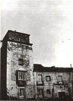 Torre de los Lujanes ,plazuela de la Villa sigloXIX.