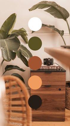 Cores Home Office, Home Office Colors, Colour Pallette, Colour Schemes, Earthy Color Palette, Interior Color Schemes, Bedroom Color Schemes, Bedroom Colors, Color Trends