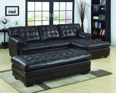 Homelegance 9739-4 Brooks Collection Color Dark Brown All Bonded Leather