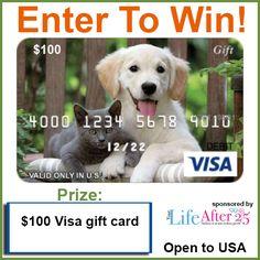 Enter @YourLifeAfter25's Pet Parents $100 Visa #Giveaway!