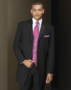 Who says pink isn't manly? #tuxedo #wedding