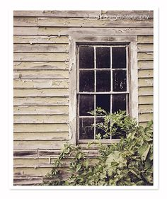 Abandoned Farmhouse Window Photography by JillianAudreyDesigns