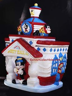 *MICKEY ~ This adorable Disney cookie jar was made by Enesco several years ago ... Never could get a good one - it always arrived broken