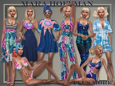 M.H. Spring/Summer 2016 Casual Whole Outfits at All About Style via Sims 4 Updates