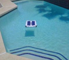 Solar Breeze Solar Powered Robotic Pool Skimmer #skimmerpoolcleaning
