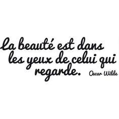 cool Citation - Stickers citation - La beauté - Citation d'Oscar Wilde à 9.95€