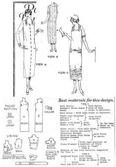 1925 Day Dress http://copa.apps.uri.edu/sample_garment.php?patID=40094