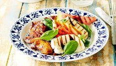 Grillattu vesimeloni-halloumisalaatti - K-ruoka