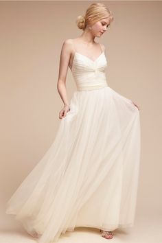 BHLDN's Watters Tinsley Dress in Ivory