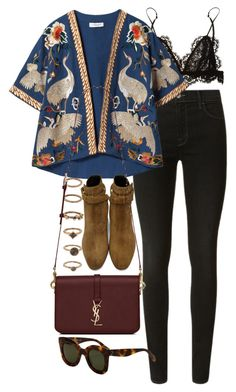 """""""Untitled #10620"""" by nikka-phillips ❤ liked on Polyvore featuring Isabel Marant, J Brand, Forever 21, Zara and Yves Saint Laurent"""